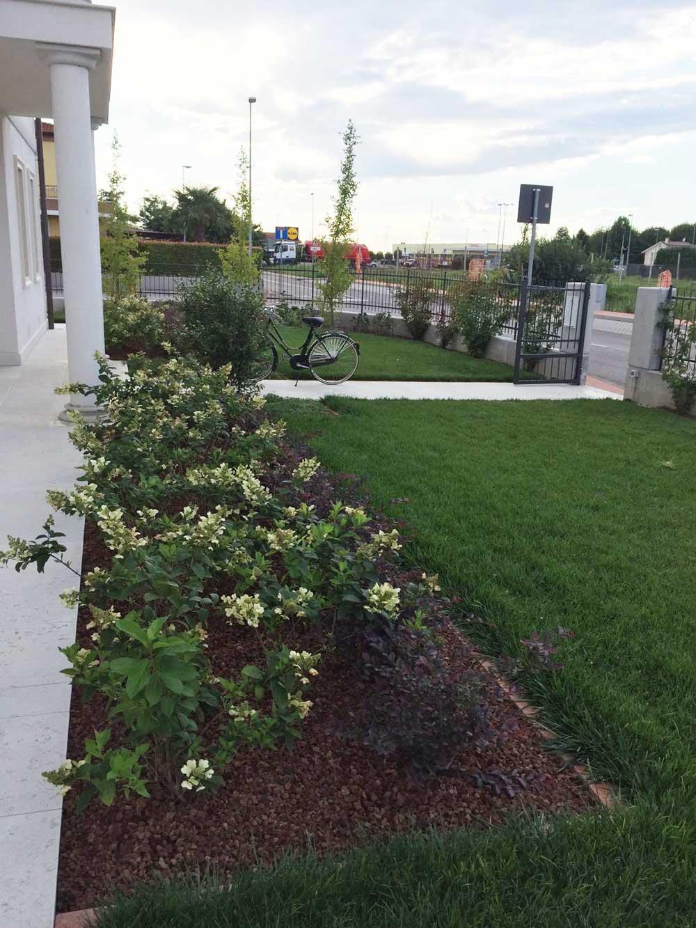 Progettazione giardino privato vicenza